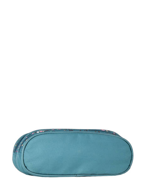 Pencil Case For Girls 2 Compartments Cameleon Blue vintage fantasy TROU other view 2