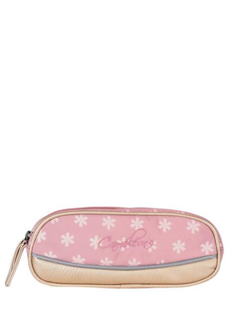 Pencil Case For Girls 2 Compartments Cameleon Pink vintage fantasy TROU