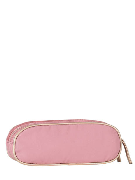 Pencil Case For Girls 2 Compartments Cameleon Pink vintage fantasy TROU other view 2