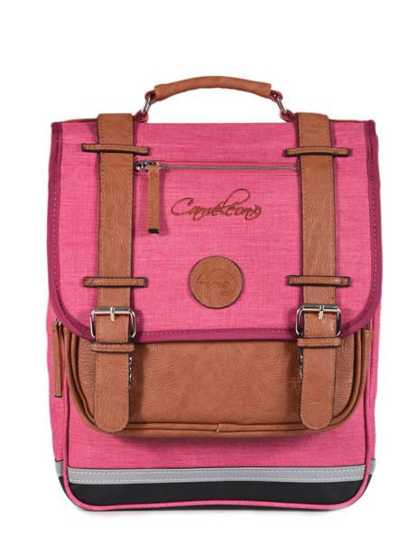 Backpack For Kids 2 Compartments Cameleon Pink vintage chine VIN-SD38