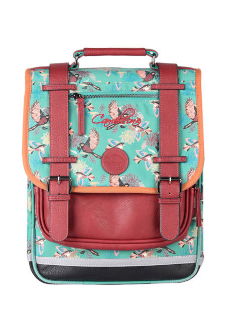 Backpack For Girls 2 Compartments Cameleon Green vintage fantasy SD38