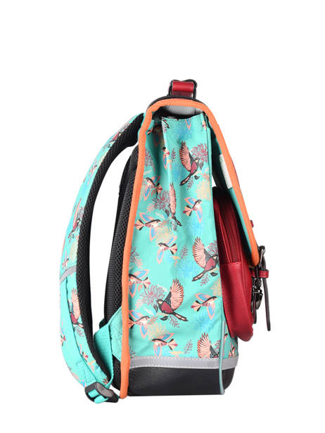 Backpack For Girls 2 Compartments Cameleon Green vintage fantasy SD38 other view 4