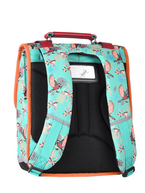 Backpack For Girls 2 Compartments Cameleon Green vintage fantasy SD38 other view 7