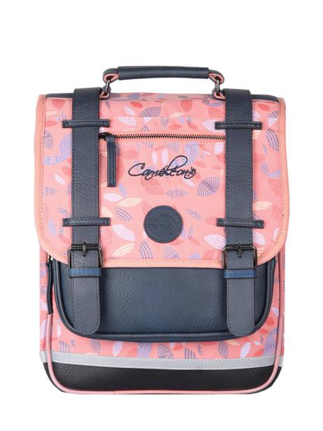 Backpack For Girls 2 Compartments Cameleon Pink vintage fantasy SD38