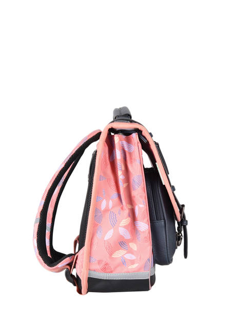 Satchel For Girl 2 Compartments Cameleon Pink vintage fantasy CA38 other view 4