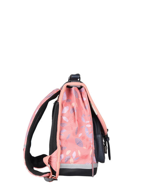Satchel For Girls 2 Compartments Cameleon Pink vintage fantasy CA35 other view 4