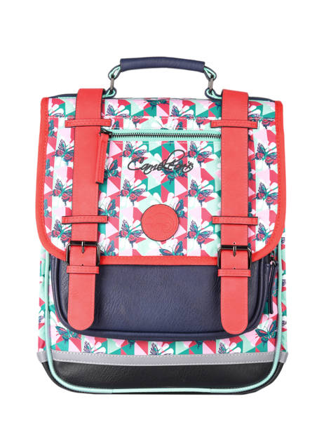 Backpack For Girls 2 Compartments Cameleon Multicolor vintage fantasy SD38