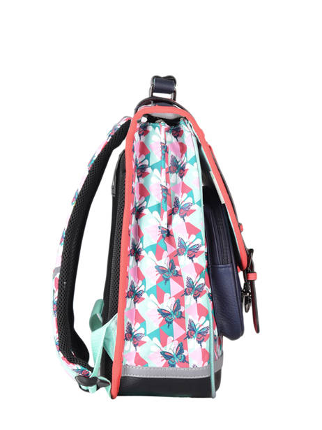 Backpack For Girls 2 Compartments Cameleon Multicolor vintage fantasy SD38 other view 4