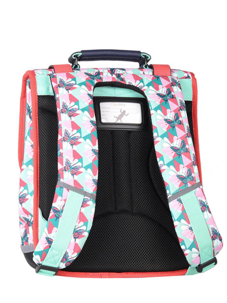 Backpack For Girls 2 Compartments Cameleon Multicolor vintage fantasy SD38 other view 7
