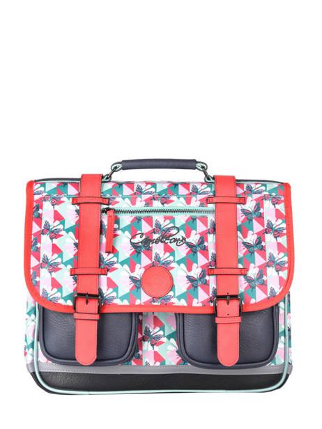 Satchel For Girls 2 Compartments Cameleon Multicolor vintage fantasy CA35