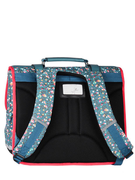 Satchel For Girls 3 Compartments Cameleon Blue vintage fantasy CA41 other view 7