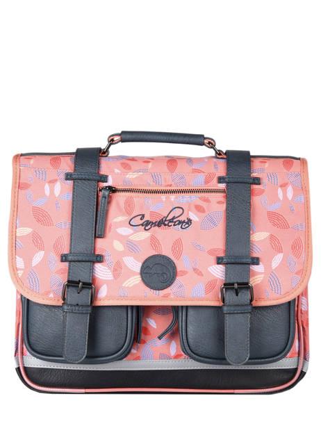 Cartable Enfant 3 Compartiments Cameleon Rose vintage fantasy CA41