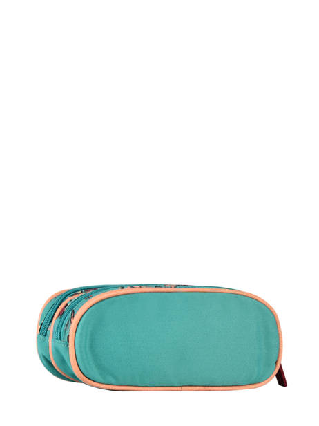 Pencil Case For Girls 2 Compartments Cameleon Green vintage fantasy TROU other view 2