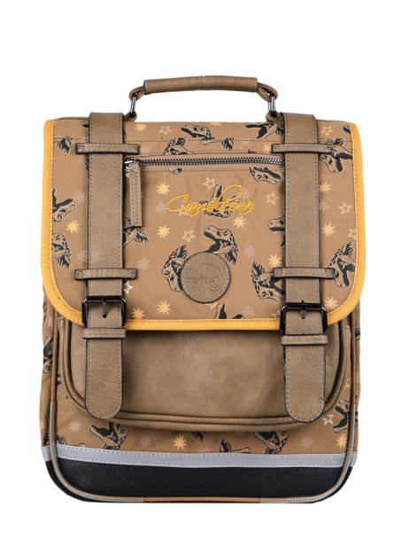 Backpack For Boys 2 Compartments Cameleon Yellow vintage urban SD38