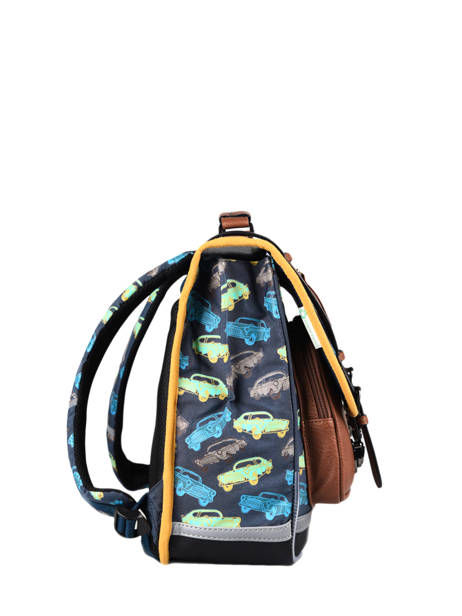 Satchel For Boys 2 Compartments Cameleon Multicolor vintage urban CA38 other view 4