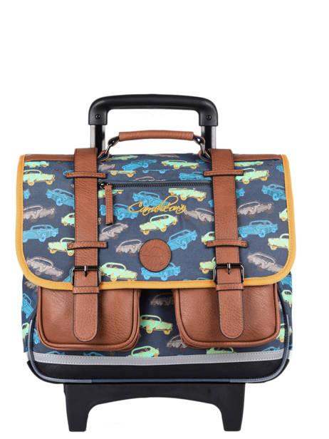 Wheeled Schoolbag For Boys 2 Compartments Cameleon Multicolor vintage urban CR38