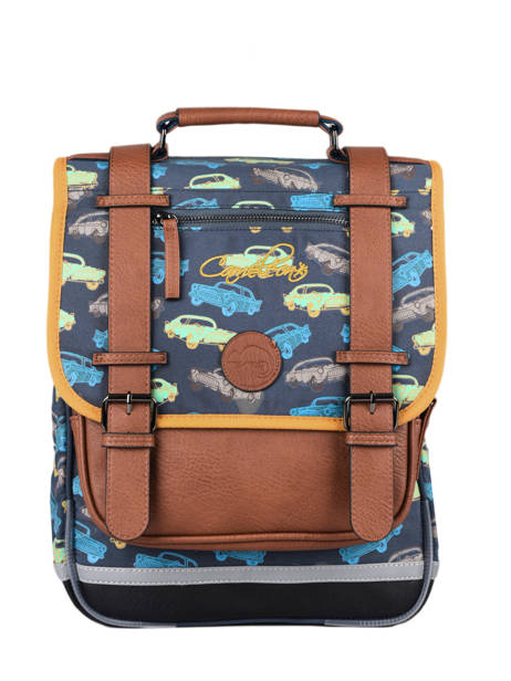 Backpack For Boys 2 Compartments Cameleon Multicolor vintage urban SD38