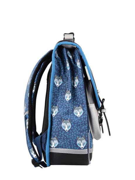 Sac à Dos Enfant 2 Compartiments Cameleon Bleu vintage urban SD38 vue secondaire 7