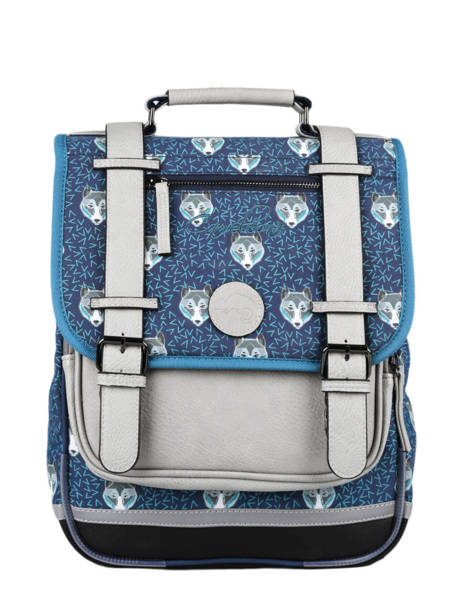 Backpack For Boys 2 Compartments Cameleon Blue vintage urban SD38