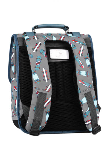 Backpack For Boys 2 Compartments Cameleon Gray vintage urban SD38 other view 7