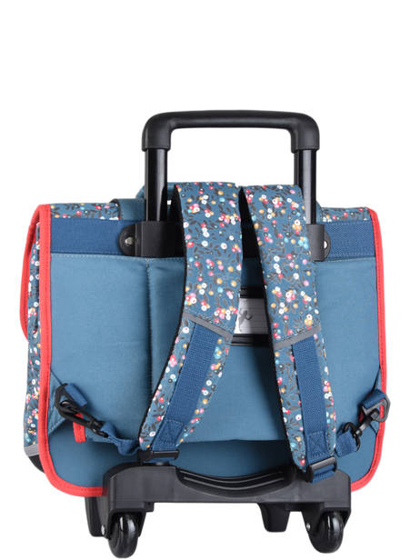 Wheeled Schoolbag For Girls 2 Compartments Cameleon Blue vintage fantasy CR38 other view 8