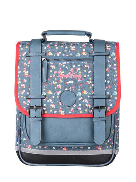 Backpack For Girls 2 Compartments Cameleon Blue vintage fantasy SD38