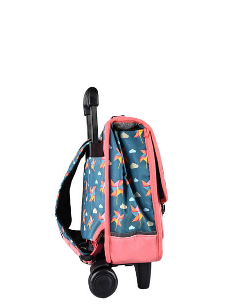 Wheeled Backpack Rétro Cameleon Black retro CR35 other view 4