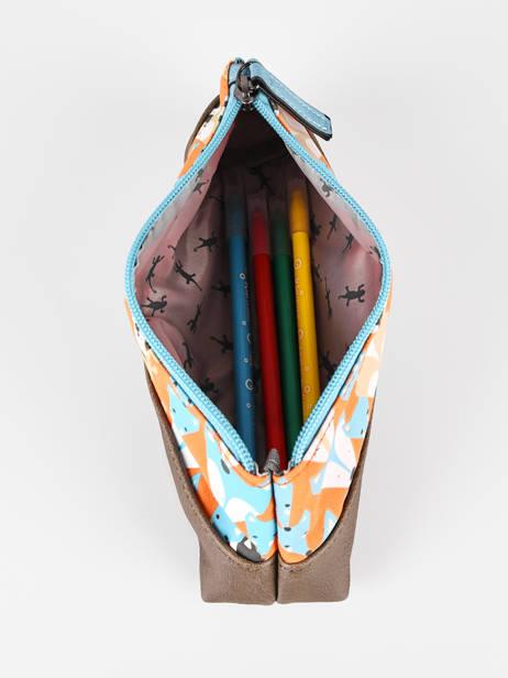 Pencil Case For Kids 1 Compartment Cameleon Multicolor retro TROU other view 1