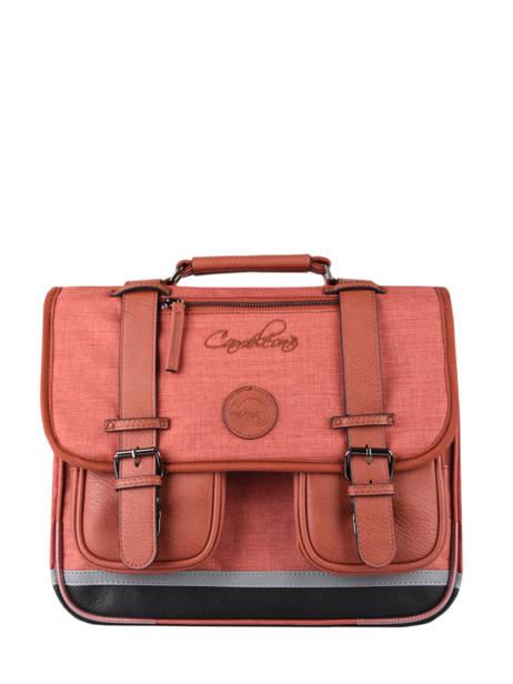 Satchel 2 Compartments Cameleon Red vintage color - VIC-CA35