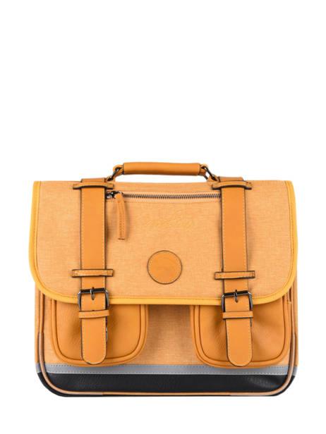 Satchel 2 Compartments Cameleon Yellow vintage color - VIC-CA35
