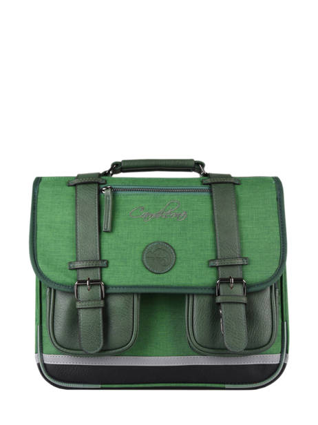 Satchel 2 Compartments Cameleon Green vintage color - VIC-CA35
