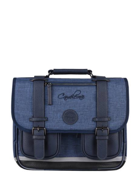 Satchel 2 Compartments Cameleon Blue vintage color - VIC-CA35