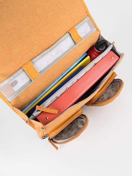 Boekentas 2 Compartimenten Cameleon Geel vintage color CA38 ander zicht 5