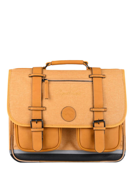 Satchel 2 Compartments Cameleon Yellow vintage color CA38