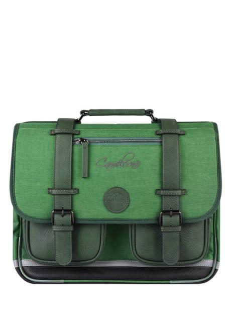 Cartable 2 Compartiments Cameleon Vert vintage color CA38