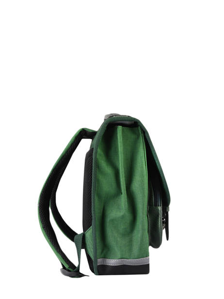 Satchel 2 Compartments Cameleon Green vintage color CA38 other view 4