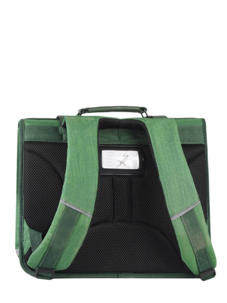 Satchel 2 Compartments Cameleon Green vintage color CA38 other view 7