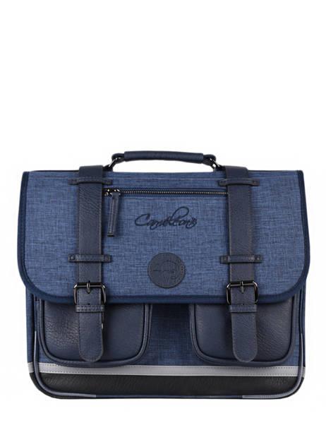 Cartable 2 Compartiments Cameleon Bleu vintage color CA38