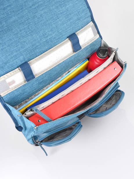 Satchel 2 Compartments Cameleon Blue vintage color CA38 other view 5