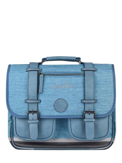 Boekentas 2 Compartimenten Cameleon Blauw vintage color CA38