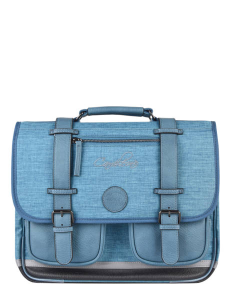 Satchel 2 Compartments Cameleon Blue vintage color CA38