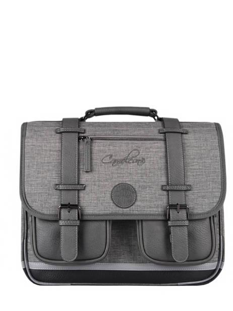 Satchel 2 Compartments Cameleon Gray vintage color CA38
