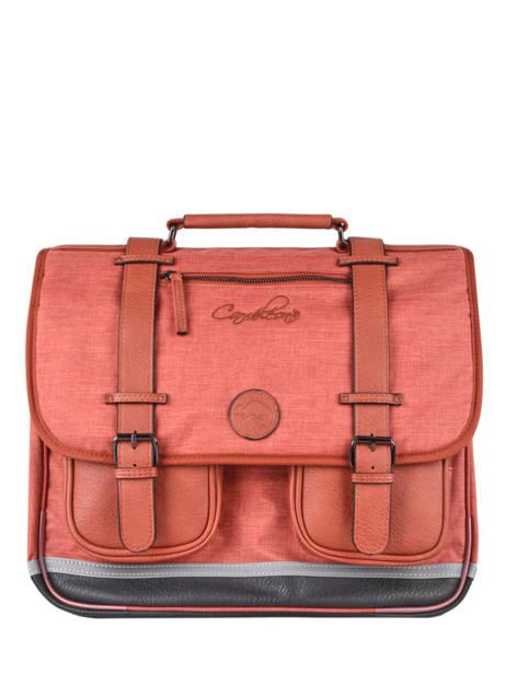 Satchel 3 Compartments Cameleon Red vintage color VIC-CA41