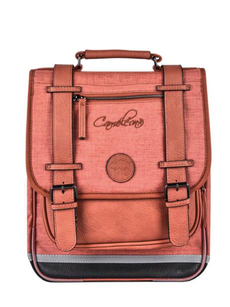 Sac à Dos 2 Compartiments Cameleon Rouge vintage color VIC-SD38
