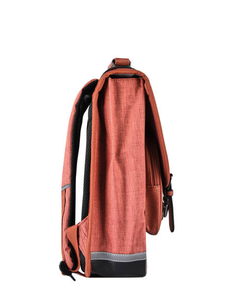 Backpack 2 Compartments Cameleon Red vintage color VIC-SD38 other view 4
