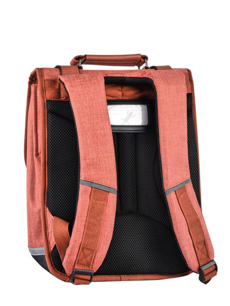 Backpack 2 Compartments Cameleon Red vintage color VIC-SD38 other view 7