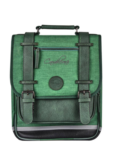 Backpack 2 Compartments Cameleon Green vintage color VIC-SD38