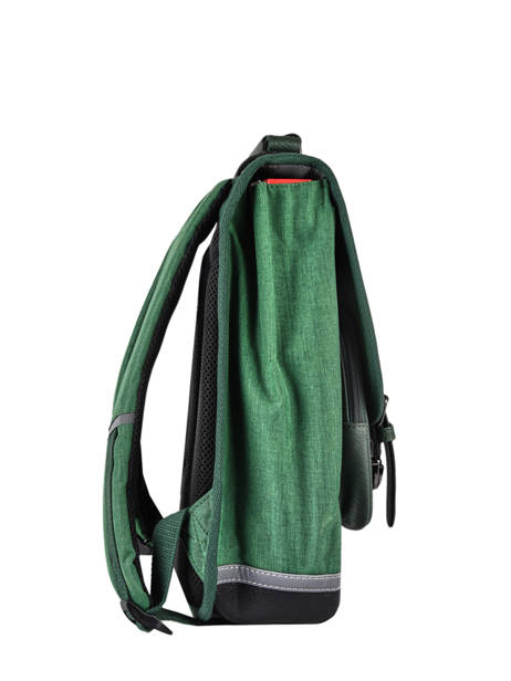 Backpack 2 Compartments Cameleon Green vintage color VIC-SD38 other view 4