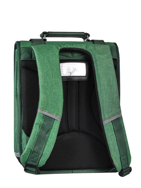 Backpack 2 Compartments Cameleon Green vintage color VIC-SD38 other view 7