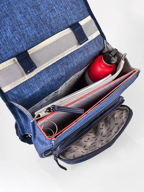 Backpack 2 Compartments Cameleon Blue vintage color VIC-SD38 other view 5